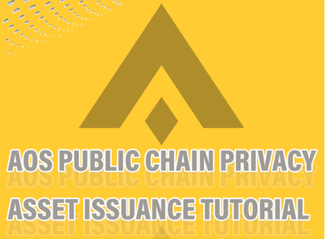 AOS Public Chain Privacy Asset Issuance Tutorial